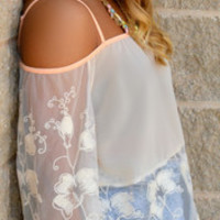 Always Pampered Lace Off-Shoulder Top · Haute Pink