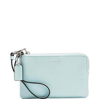 Coach Bleecker Small Wristlet in Pebbled Leather