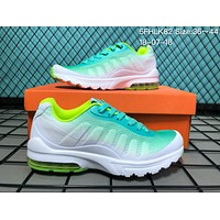 KU-YOU N006 Nike Air Max 95 Net Surface Breathable Causal Running Shoes Green Blue