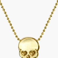 Women's Alex Woo 'Little Rock Star' Skull Pendant Necklace
