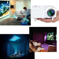 Mini Home Cinema Theater Portable 1080P HD Multimedia USB LED Projector AV SD VGA HDMI: Amazon.ca: Electronics