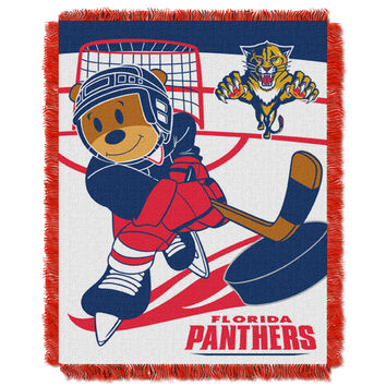Panthers  Baby 36x46 Triple Woven Jacquard Throw - Score Series
