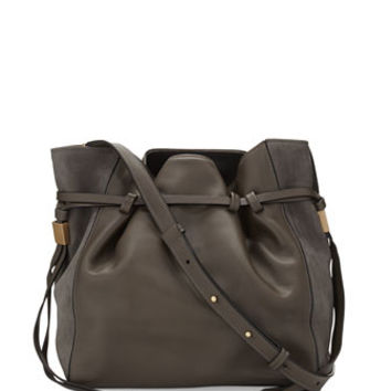 BOYY Lazar Leather Bucket Bag, Elephant