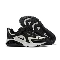 Nike Air Max 200 White Black Men Running Shoes - Best Deal Online