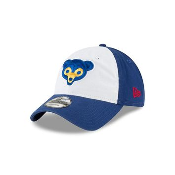 Kids Junior Chicago Cubs 1969 Logo Gray Core Classic Adjustable Hat By New Era