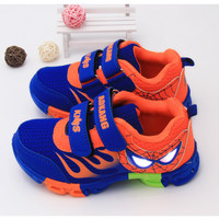 Kids Light Up Yeezy Shoes Spiderman Flasher Fashion Sports Sneakers Lights For Kids Trainers Sport Brand Light Boys Girls Shoes