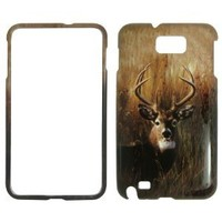Deer on Grass Camo Camouflage Hunting Hard Case Faceplate Protector Cover Snap On For - Samsung Galaxy Note i9220