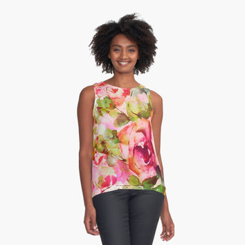 'roses abstraites/abstract roses' Top duo by clemfloral