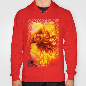 Dominic Goddess of fire Hoody by exobiology