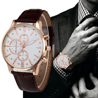 New fashion watches men's quartz watches 2017 men's watch Business leather watches men relogio