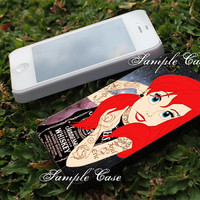tattoed ariel nebula Customized cellular case for iPhone 4/4S, iPhone 5/5S/5C, Samsung Galaxy S3 and S4, ipod 4 and ipod 5