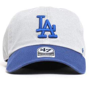 Los Angeles Dodgers Two Tone Clean Up Hat Grey / Blue