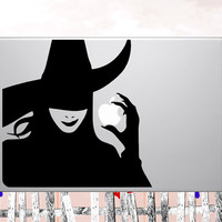 "25% OFF Macbook decals Wicked Witch Apple mac Decal sticker  - choose your own color for macbook 11"" 13"" 15"" 17"" & laptop"
