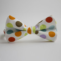 White Party Time Dot Bow Tie | something special every day