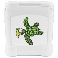 """""""Little Dave"""" Turtle, Fish with Attitude Igloo Rolling Cooler"""