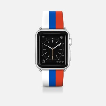 Russia flag - Patriot collection Apple Watch Band (42mm)  by WAMDESIGN | Casetify