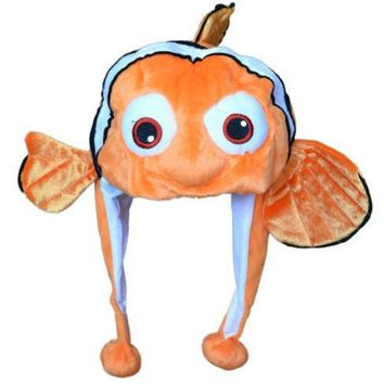COS hood Cap ocean Nemo 1pcs hat Movie Cute Clown Fish Plush Animals Cartoon Cosplay Hat Good quality In Stock Free Shipping