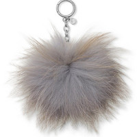 MICHAEL Michael Kors Large Fur Pom Pom Key Charm - Handbags & Accessories - Macy's