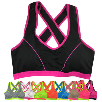 New Slim Sexy Fitness keep fit Women Lady Bra  Solid Wrap Chest Strap Vest Tops Bra bandage crop top