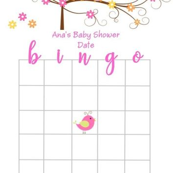 10 Happi Tree Owl Baby Shower Bingo Cards