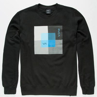 Rvca Observation Mens Sweatshirt Black  In Sizes