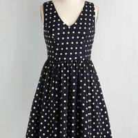 Nautical Mid-length Sleeveless Fit & Flare Speck For Yourself Dress
