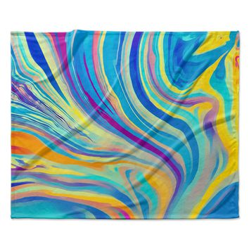 "Ingrid Beddoes ""Rainbow Swirl"" Fleece Throw Blanket"
