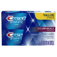Crest 3D White Luxe Glamorous White Vibrant Mint Flavor Whitening Toothpaste, 3.5 Oz, Pack of 2 - Walmart.com