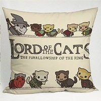 The Lord of the Cats Pillow Case (16x16 one side)