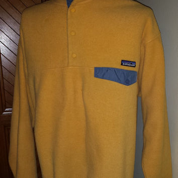Vintage 90s Canary Yellow Patagonia T Snap Fleece