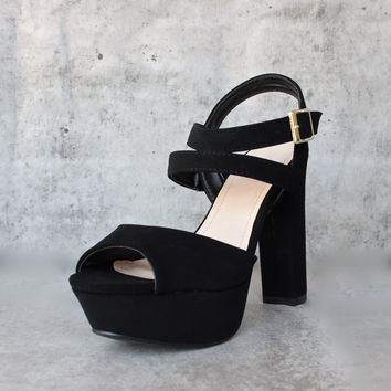 double strap platform pumps - more colors