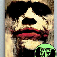 Batman Joker Heath Ledger Glow In The Dark Framed Cool Horror Blacklight Mini Movie Poster