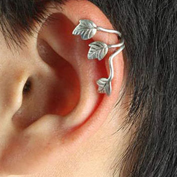 Trendy Tin Alloy Clip Earrings 9632