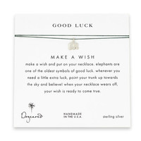 good luck elephant evergreen silk necklace, sterling silver - Dogeared