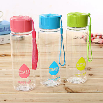 Best Quality My Breakproof Bottle 3 Colors Sports Cycling Camping Readily Space Cup Health Lemon Juice Make Water Bottles 550ml