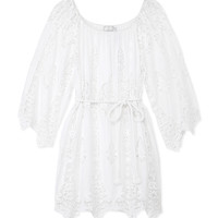 Miguelina Bridgette Belted Mini Dress - Lace Tunic - ShopBAZAAR