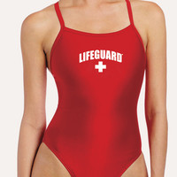 Lifeguard Women's One-Piece Lycra Swimsuit