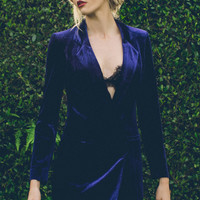 Cara Velvet Blazer Dress $72