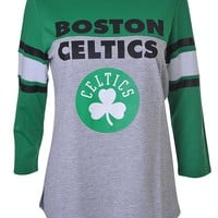 Boston Celtics Retro Jersey Womens Premium Long Sleeve Tee