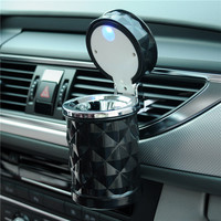 Luxury Car Accessories Portable LED Light Car Ashtray Universal Cigarette Cylinder Holder Car Styling Mini carro cinzeiro