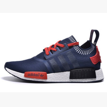 """Women """"Adidas"""" NMD Boost Casual Sports Shoes Navy black stripe"""