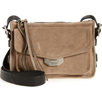 rag & bone Small Bomber Leather Crossbody Bag | Nordstrom