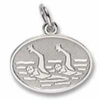 Synchronized Swimming Charm In Sterling Silver
