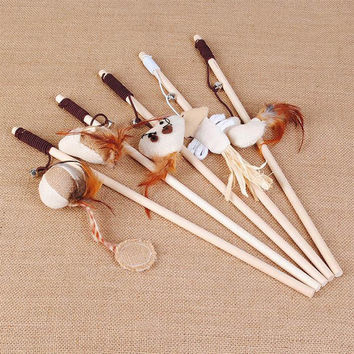 Interactive Stuff Toys With Bells Elastic Rod
