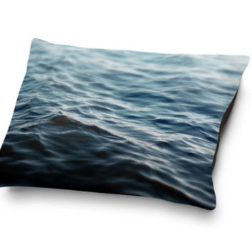 Dark Waters 2 - Pet Bed, Navy Blue Ocean Nautical Surf Pet Bedding, Beach House Decor Bedroom Pet Accessory Bed. In 18x28 30x40 40x50 Inches