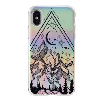 Holographic iPhone Case Cover - Happy Camper