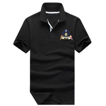Summer style Men&'s cotton polo shirts Casual tops tees Shirt Embroidered Polo Slim Po
