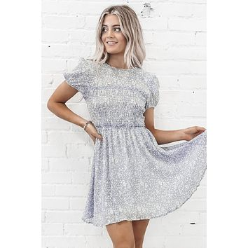 In The Feels Blue Floral Dress