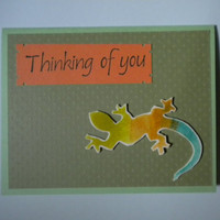 Lizard Thinking of You Card/Kids Greeting by lilaccottagecards
