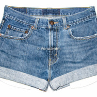 Vintage High Waisted Denim Shorts, Cuffed/Un-Cuffed Shorts, Hipster Grunge Shorts, Plus Size Shorts, Levis, Wrangler, Guess, Gap, Etc.
